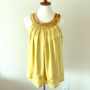 \Adiva\• Yellow Bejeweled Top